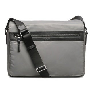 Michael Kors Kent Nylon Large Steel Grey Messenger Bag