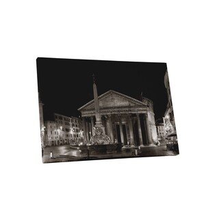 Castles and Cathedrals 'Rome Pantheon' Gallery Wrapped Canvas Wall Art - Black