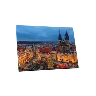 Castles and Cathedrals 'Prague, Czech Republic, Tyn Church' Gallery Wrapped Canvas Wall Art - Multi