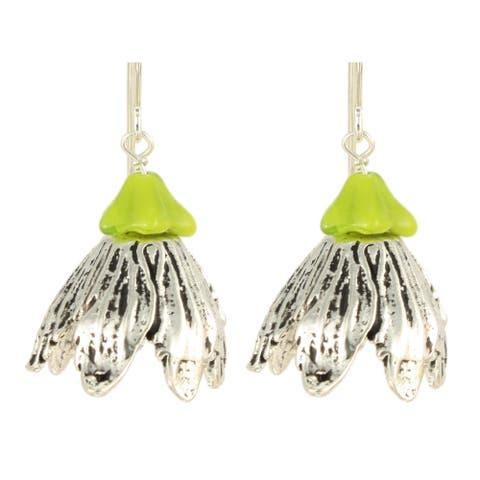 Ardent Designs Hanging Glykeria Flower Earrings