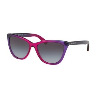 Michael Kors Women's MK2040F 322011 57 Cateye Plastic Purple Grey Sunglasses