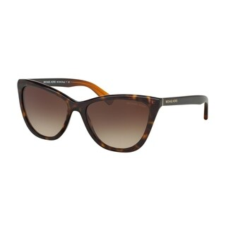 Michael Kors Women's MK2040F 321713 57 Cateye Plastic Havana Smoke Sunglasses - Black