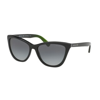 Michael Kors Women's MK2040F 321611 57 Cateye Plastic Black Grey Sunglasses