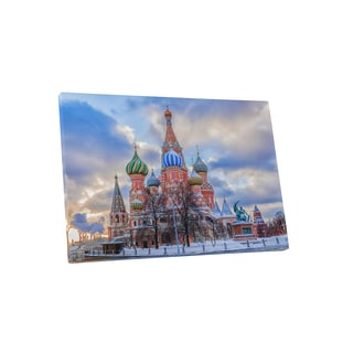 Castles and Cathedrals 'Moscow St. Basil's Cathedral' Gallery Wrapped Canvas Wall Art