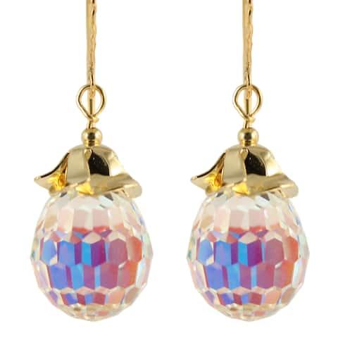 Handmade Hyacinth Crystal Drop Earrings