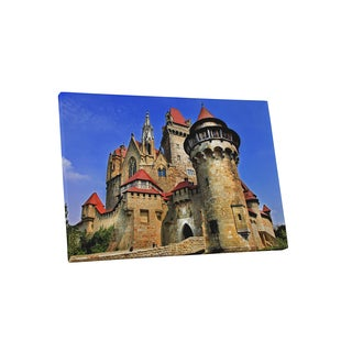 Castles and Cathedrals 'Kreuzenstein Castle, Austria' Gallery Wrapped Canvas Wall Art