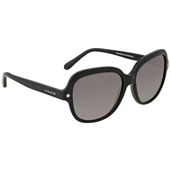 1215066c04 Coach Women  x27 s HC8192 542011 56 Square Plastic Black Grey Sunglasses