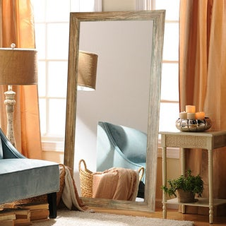 Multi Size Blonde Barnwood Floor Mirror - Light Brown