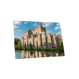 Castles and Cathedrals 'Gravensteen in Ghent Belgium' Gallery Wrapped Canvas Wall Art - Brown
