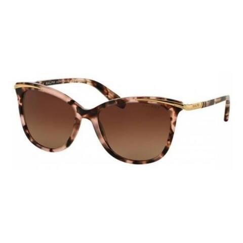 Ralph by Ralph Lauren Women's RA5203 1463T5 54 Cateye Plastic Havana Brown Sunglasses