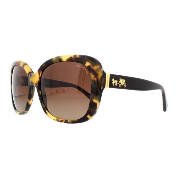 47b1795916 Coach Women  x27 s HC8158 5324T5 58 Square Plastic Havana Brown Sunglasses