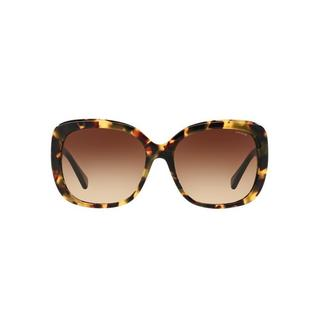 Coach Women's HC8158 5324T5 58 Square Plastic Havana Brown Sunglasses
