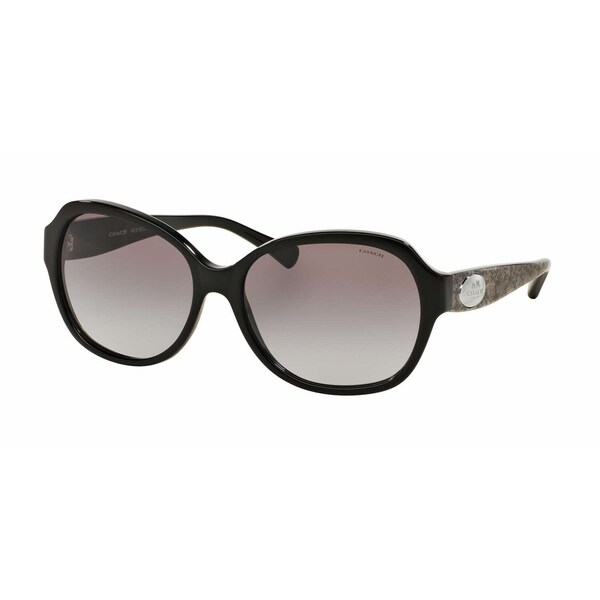 04a9cce3e868c Shop Coach Women s HC8150 534611 59 Square Plastic Black Grey Sunglasses -  Free Shipping Today - Overstock - 14692867