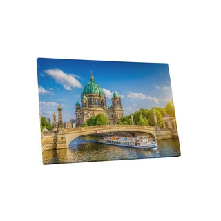 Castles and Cathedrals 'Berlin Cathedral Berliner Dom' Gallery Wrapped Canvas Wall Art - Multi