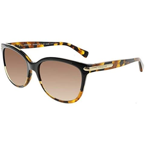 Coach Women's HC8132 5438T5 57 Cateye Plastic Havana Brown Sunglasses