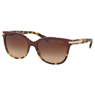 Coach Women's HC8132 543713 57 Cateye Plastic Havana Brown Sunglasses