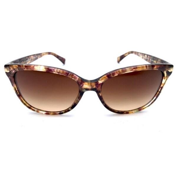 564017de9cdb Coach Women's HC8132 528713 57 Cateye Plastic Tortoise Brown Sunglasses