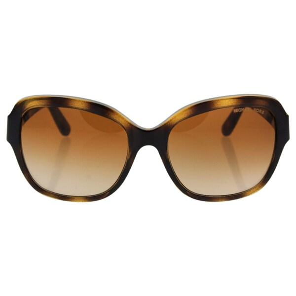 0e407f1d2d Michael Kors Women  x27 s MK6027 300613 55 Square Plastic Havana Brown  Sunglasses