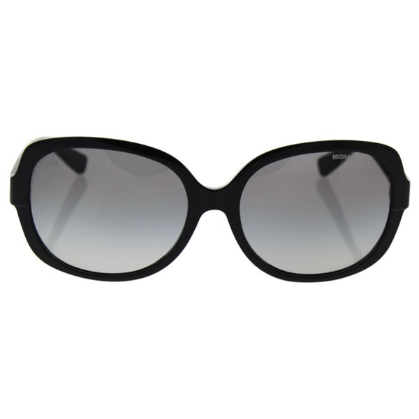 598afd6421 Michael Kors Women  x27 s MK6017 300511 58 Square Plastic Black Grey  Sunglasses