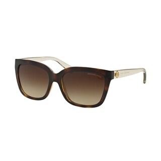 Michael Kors Women's MK6016 305413 54 Square Plastic Havana Smoke Sunglasses