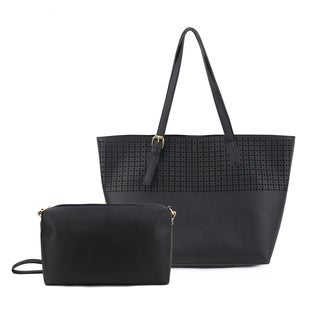 Olivia Miller Irena Perforated Tote Bag with Crossbody