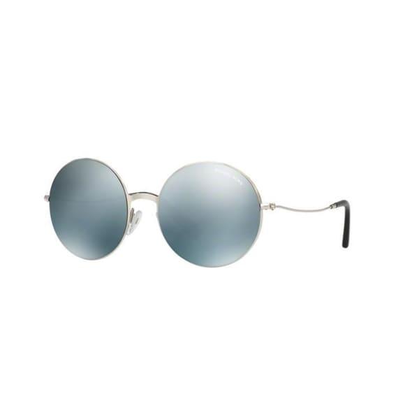 5d572187d12 Michael Kors Women  x27 s MK5017 100125 55 Round Metal Plastic Silver Blue  Sunglasses
