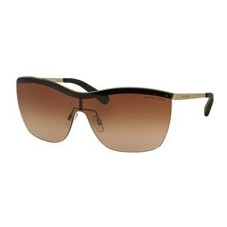 Michael Kors Women's MK5005 100413 39 Cateye Metal Plastic Gold Smoke Sunglasses