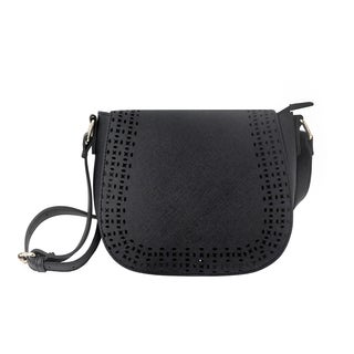 Olivia Miller 'Kaya' Peforated Saddle Crossbody Handbag