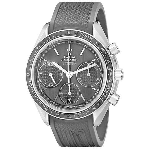 Omega Men's O32632405001001 'Speedmaster Racing' Chronograph Automatic Black Rubber Watch