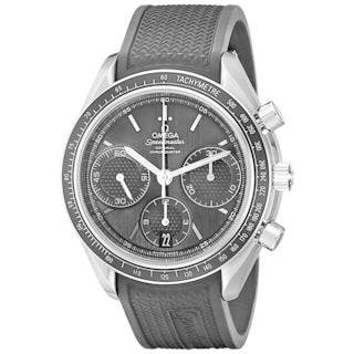 Omega Men's O32632405001001 'Speedmaster Racing' Chronograph Automatic Black Rubber Watch|https://ak1.ostkcdn.com/images/products/14693067/P21225507.jpg?impolicy=medium