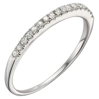 Charles & Colvard 14k White Gold 1/6ct DEW Round Moissanite Wedding Band|https://ak1.ostkcdn.com/images/products/14693074/P21225508.jpg?impolicy=medium