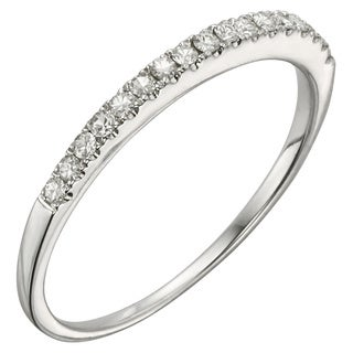 Charles & Colvard 14k White Gold 1/6ct DEW Round Moissanite Wedding Band