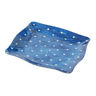 Handmade Melamine Pallini Blue Polka Dots 4-piece 11-inch Dinner Plates (Philippines)