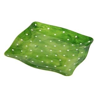 Handmade Melamine Pallini Sage Green Polka Dots 4-piece 11-inch Dinner Plates (Philippines)