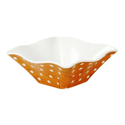 Handmade Melamine Pallini Yellow Polka Dots Cereal/ Dip Bowl (Philippines)