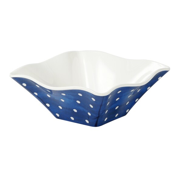 Handmade Melamine Pallini Blue Polka Dots 4-piece 6-inch Cereal/ Dip Bowls (Philippines)