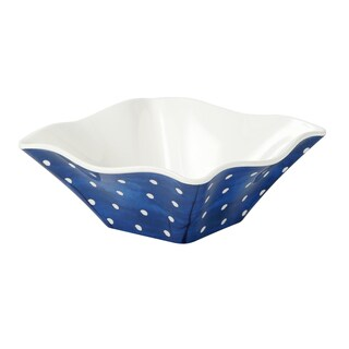 Handmade Melamine Pallini Blue Polka Dots 4-piece 6-inch Cereal/ Dip Bowls (Philippines)