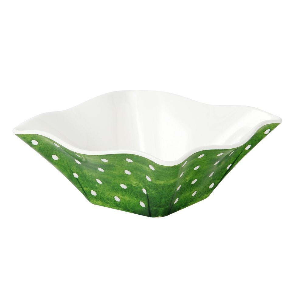 Encore Concepts Botanical Round Galax Leaf Melamine Cereal Bowl Set Set Of 4 Melamine In Red White Cream Wayfair 20250 Ibt Shop
