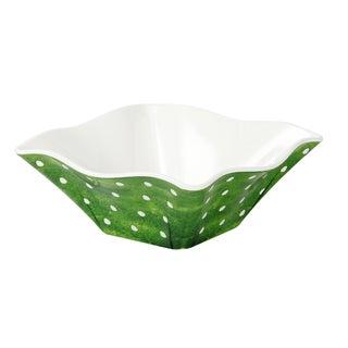 Handmade Melamine Pallini Sage Green Polka Dots Cereal/ Dip Bowl (Philippines)