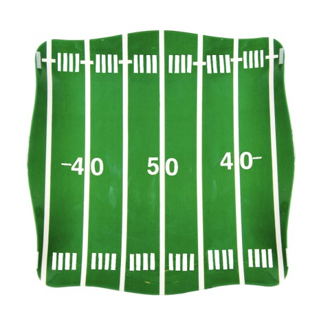 Handmade Melamine Sports Football Field Green 5-piece Platter with 4 dip bowls (Philippines)