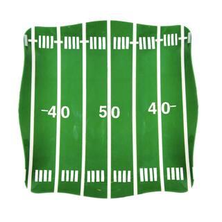 Handmade Melamine Sports Football Field Green 5-piece Platter with 4 dip bowls (Philippines)