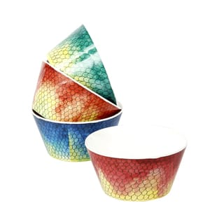 Handmade Melamine Swimmingly Multicolor 4-piece Assorted Cereal/ Dip Bowls (Philippines)