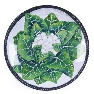 Handmade Melamine Verdura Cauliflower White/ Green 17-inch Shallow Bowl (Philippines)