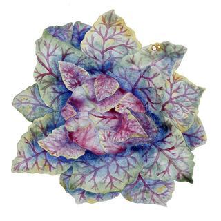 Handmade Melamine 16-inch Verdura Cabbage Purple/ Green Tray (Philippines)