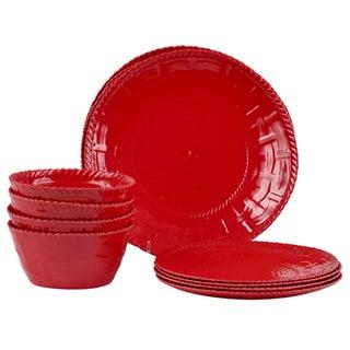 Handmade Melamine Woven Red 12-piece Dinnerware Set (Philippines)