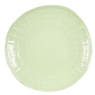 Handmade Melamine Woven Sage Green 17-inch Shallow Bowl (Philippines)
