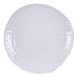 Handmade Melamine Woven White 17-inch Shallow Bowl (Philippines)