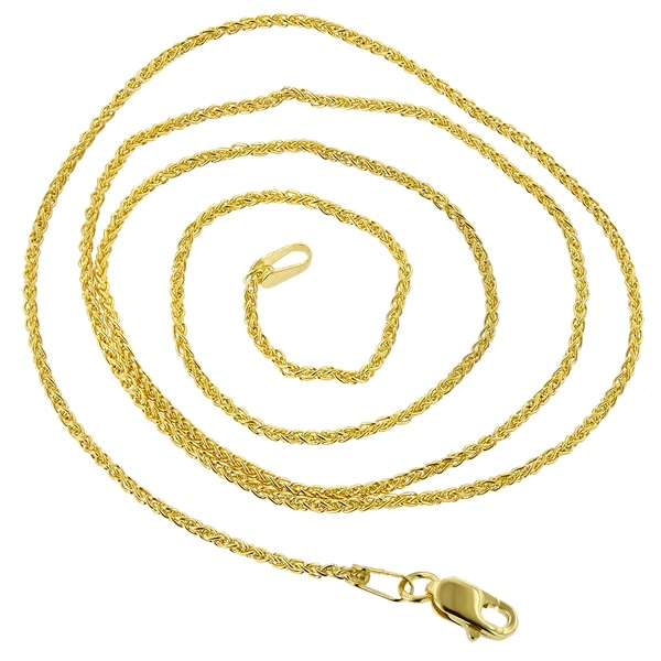 14Kt Gold Round Wheat Chain With Lobster Lock 30 Inches Long Round Wheat Chain