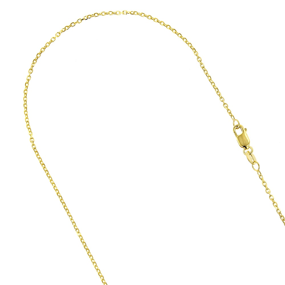 14K White-14K White 1.9mm Diamond-Cut Rope 7 Chain with Lobster Clasp