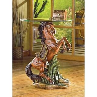 Upright Pony Glass Side Table